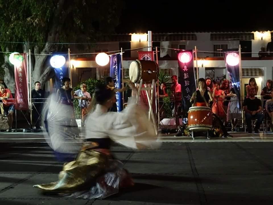 Taiko y baile tradicional japonés