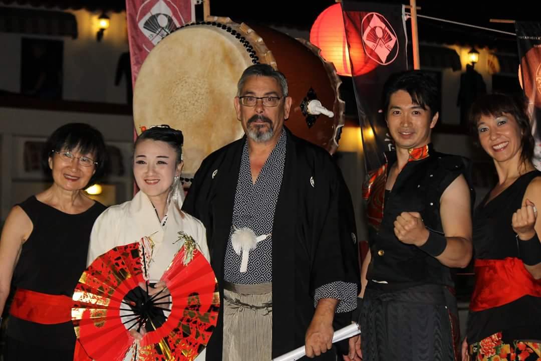 Taiko Enishi, Chieko Kojima y Sensei José Miranda