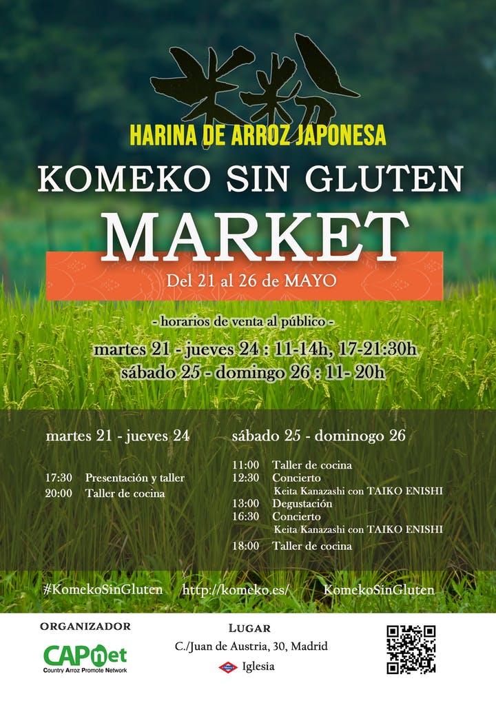 Komeko, Harina De Arroz Japonesa, Sin Gluten. Madrid.
