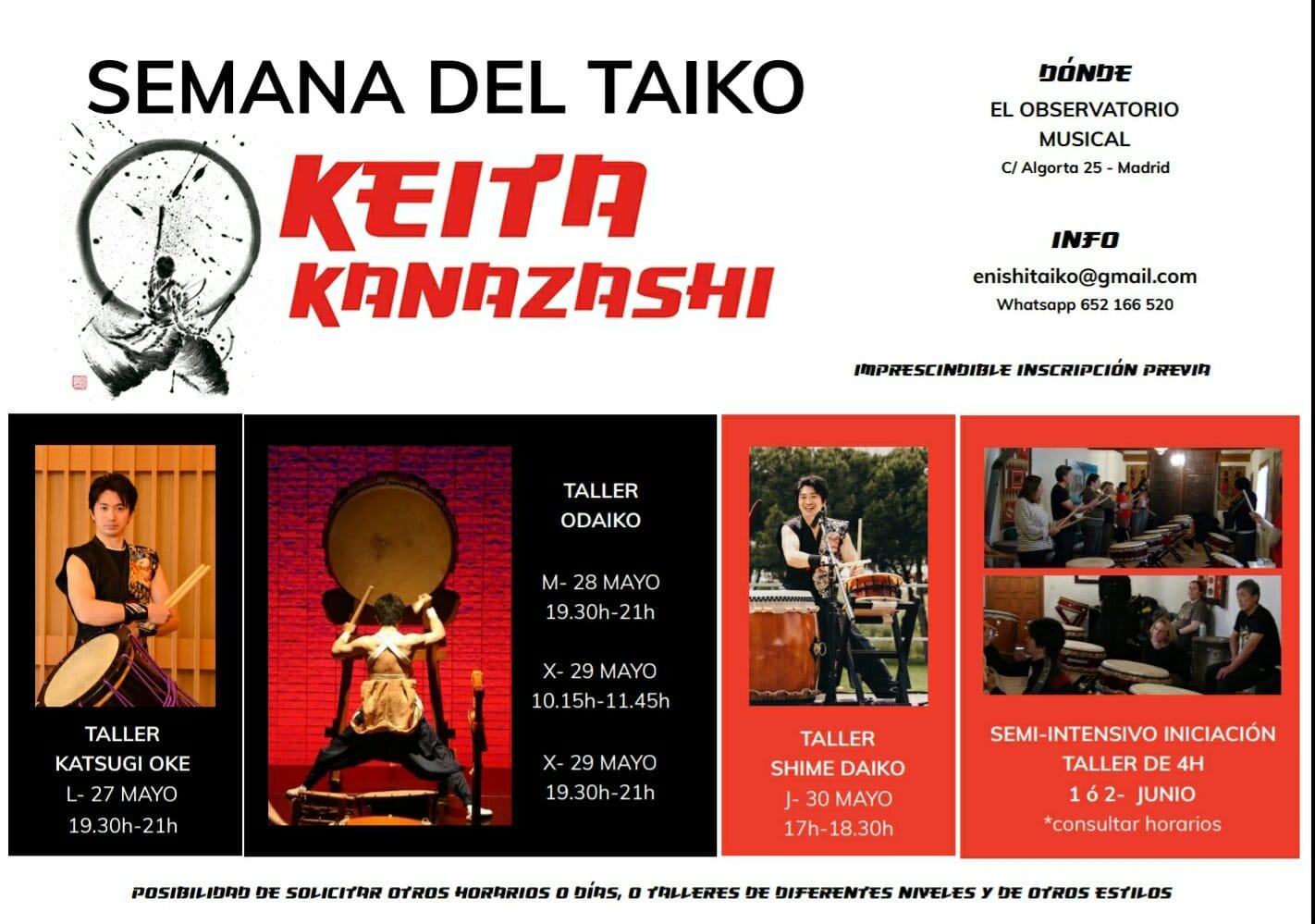 Taller De Taiko En Madrid, Con Keita Kanazashi
